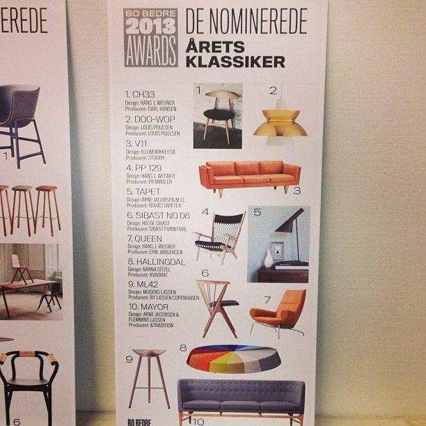 So excited to find out which product who was Classic of the year... @bobedredk #bobedredk #bobedre #bobedredesignaward #stoolml42 #taburetten #mogenslassen #bylassen