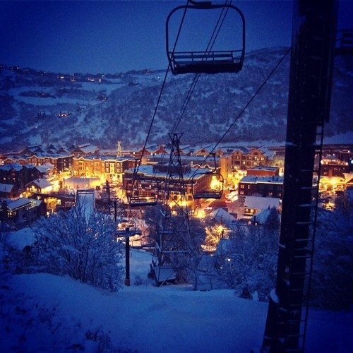 Park City Utah...so beautiful at night! nothing better than the mountains, snow and a hot tub!