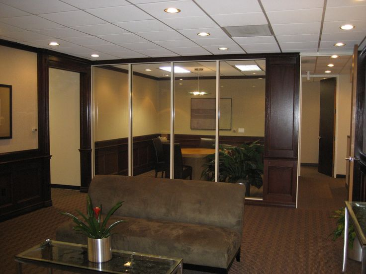 Glass Window Wall Boardroom And Reception Area Corporate