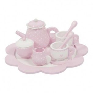 Little Dutch Theeservies Hout Roze | babyentiener.nl