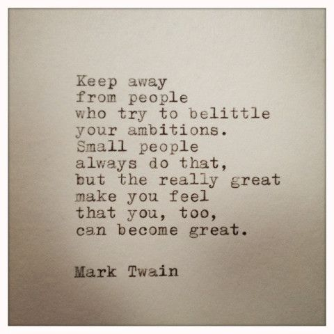 Mark Twain Quote Typed on Typewriter