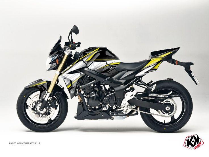 Kit Déco Moto Profil Suzuki GSR 750 Noir - Jaune