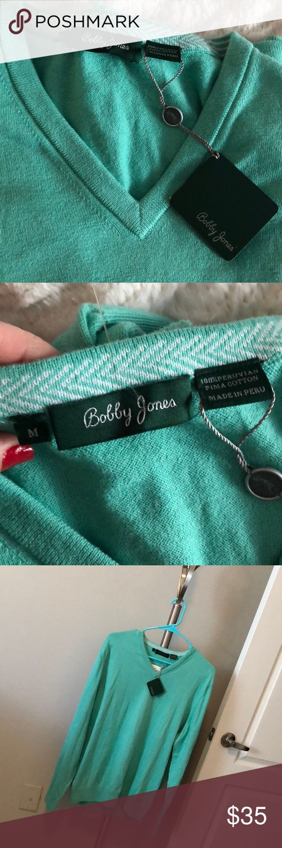 Bobby Jones 100% PIMA Cotton Sweater Tiffany Blue 100% PIMA Cotton Men's Sweater, size M, in Tiffany Blue. Made in Peru. Brand new, never worn. New with tags! Keep warm this Winter and snuggle with your Love in this warm, fashionable sweater! bobby jones Sweaters V-Neck