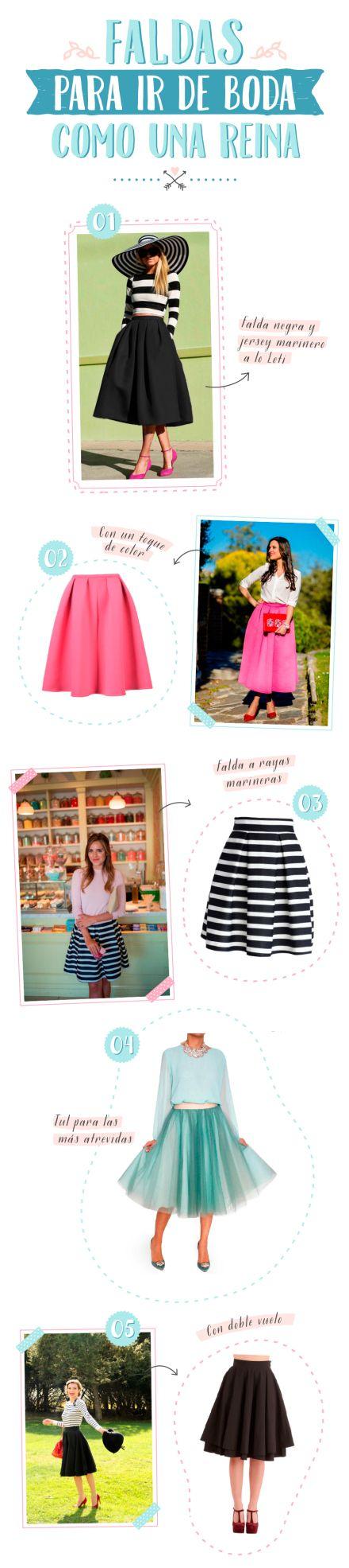 Faldas para ir de boda como una reina #style #skirts #muymolon