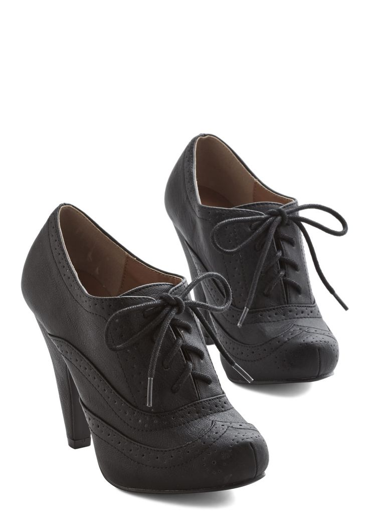 Flying First-Sass Heel in Black, @ModCloth