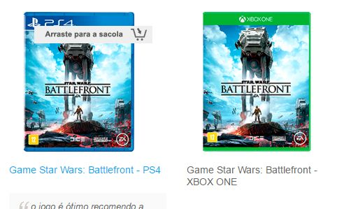 Game Star Wars: Battlefront - PS4 ou Xbox One << R$ 7039 >>