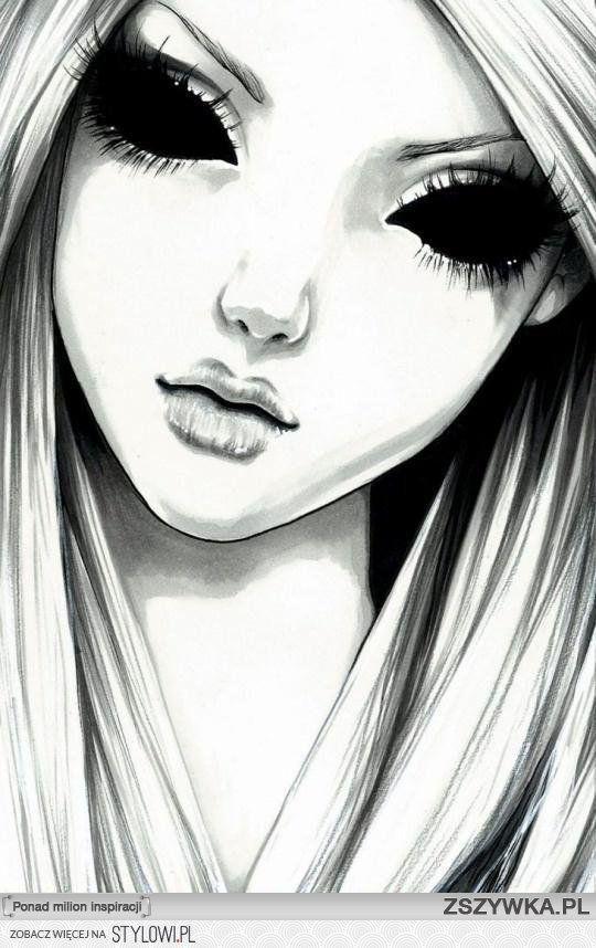 drawings dark anime manga creepy drawing stanisic vanessa tattoo dessin cool eyes illustrations noir importo ja nao gothic paintings eye