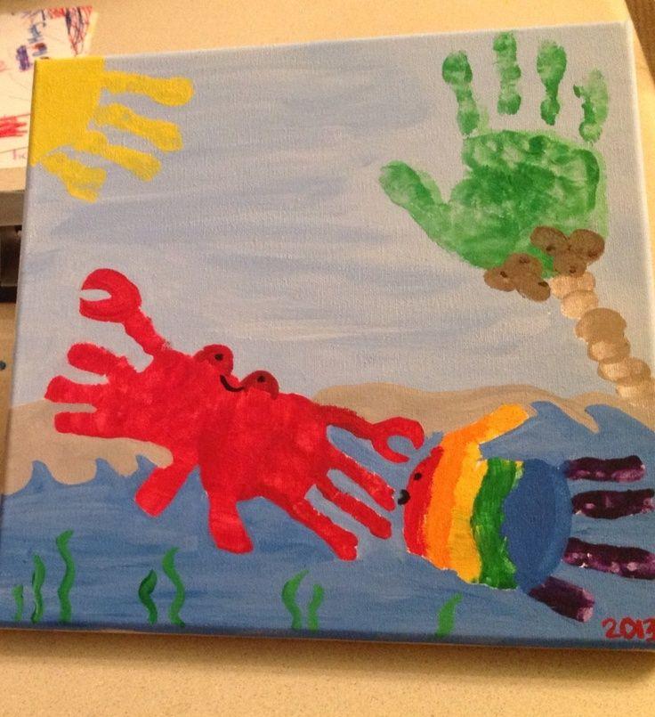 Handprint Sea Animals | Handprint art with sea creatures! So easy and fun!