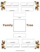 4 Family Albero generazione con Fall Foliage