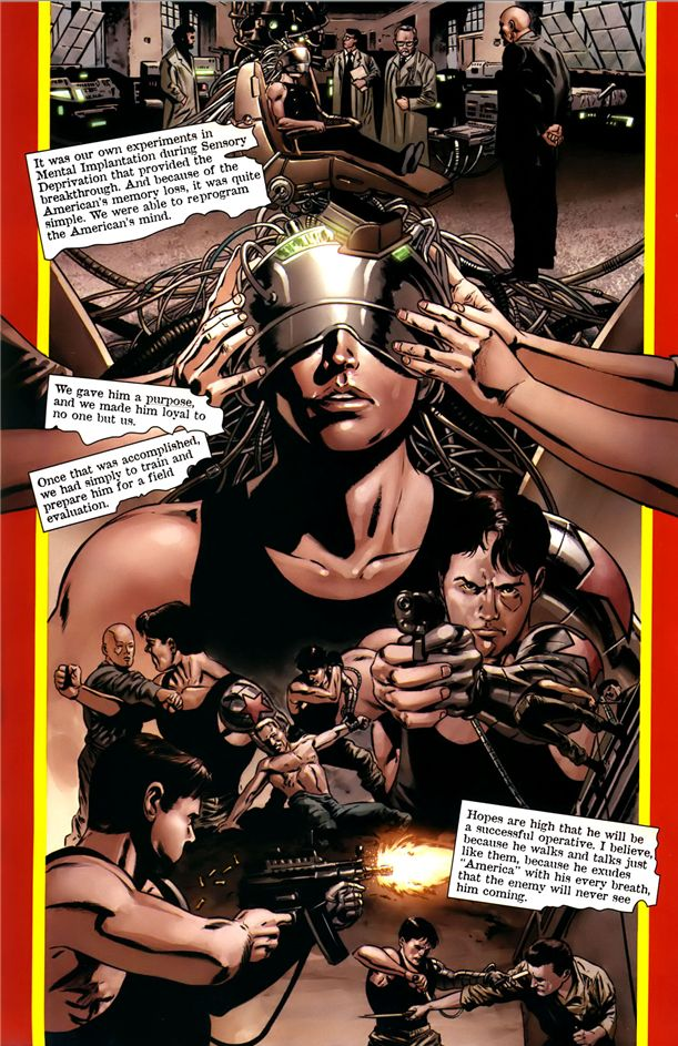 Captain America v5 issue #11 – Constant mind wiping and training turn Bucky into the Winter Soldier.    http://www.comicpow.com/2014/04/17/the-winter-soldier-bucky-barnes-new-legacy/
