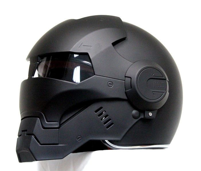 Masei Matt Black Atomic-Man 610 Open Face Motorcycle HJC Icon Helmet  #Maseihelmet