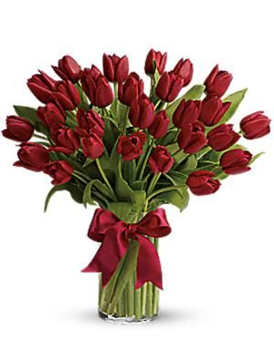 Valentine's Day Flowers | Bouquet of Red Tulips | Red Tulips Delivery San Diego | Four Seasons Flowers