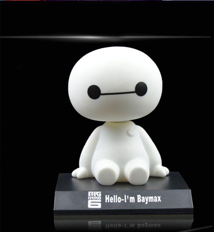 Милый 11 см большой Hero 6 Baymax робот кукла «китайский болванчик» пожимая Head игрушка модель автомобиль украшение пвх действие рисунок коробка купить на AliExpress