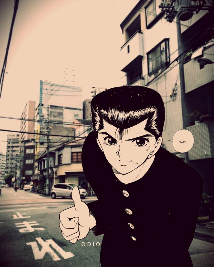 yu yu hakusho anime manga japanese Aesthetic design by odio