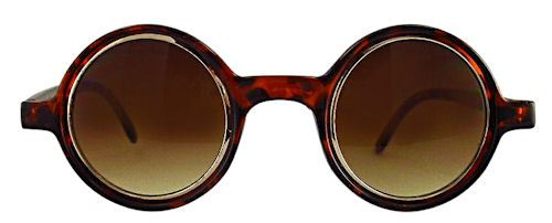 Ogle Small Round Sunglasses - 300 Tortoise