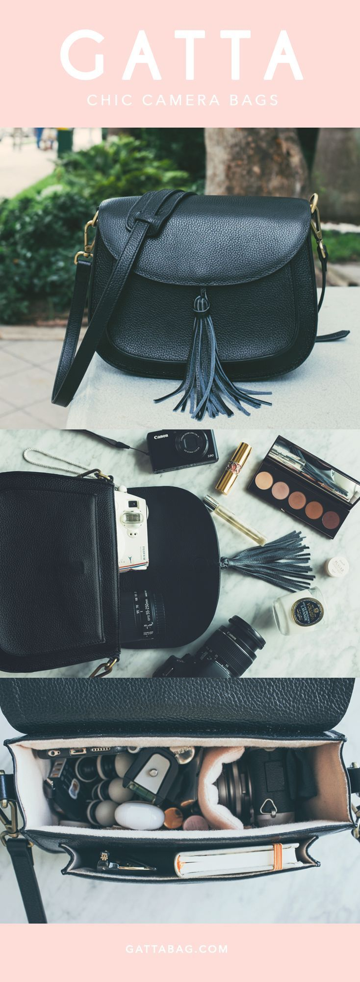 Chic Camera Bags - Finally a cute camera for women that looks fashionable and stylish! For DSLR and Mirrorless Cameras.