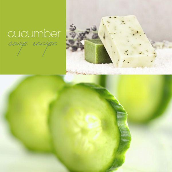 Cucumber Soap Recipe-9 DIY Homemade Soap Recipes