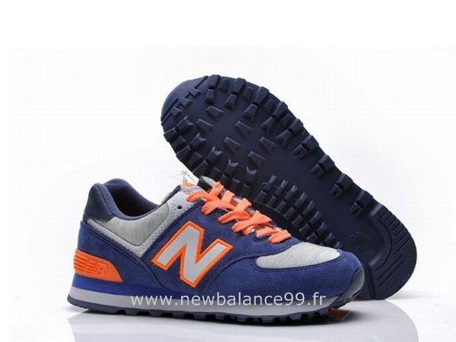 New Balance - 574 - Femme - Bleu/Orangé New Balance Femme U420 Pas Cher