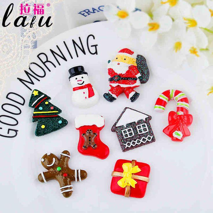 Рождество Новый год ручной работы DIY SMD корейских детей младенца шпилька шпилька волос веревки волос ювелирных аксессуаров материал -tmall.com Lynx