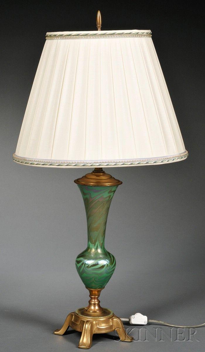 Durand Art Glass King Tut Table Lamp Base Art Glass And
