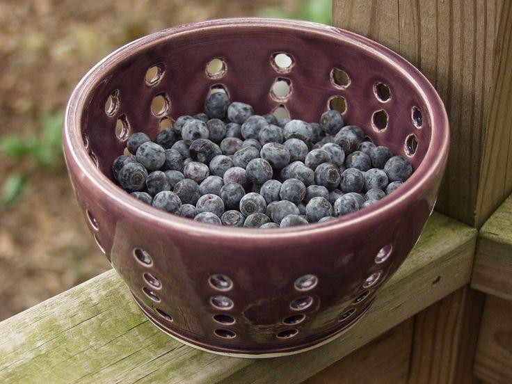 Handmade Ceramic Berry Strainer