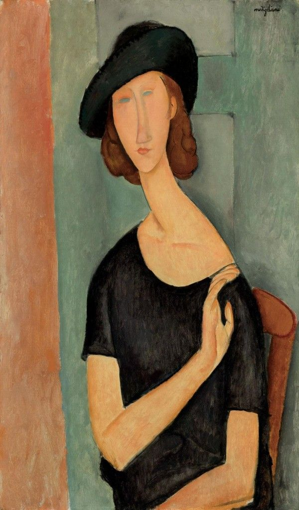 Portrait of Jeanne Hébuterne , 1919 Amedeo Modigliani