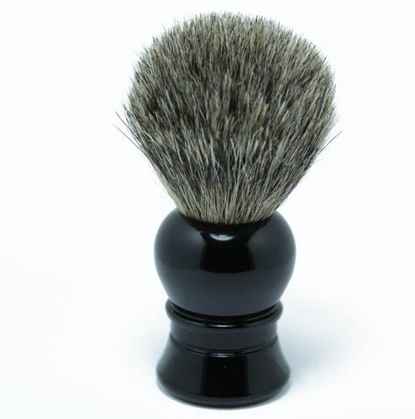 Faux Ebony Pure Badger Shaving Brush ! Approximately 4 inches in total height, hair knot size: 19mm, pure badger hair.  #MerkurShavingBrush #ShavingRazorsAndBrushesCases