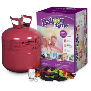 Balloon Time Jumbo Helium Balloon Kit Multicoloured