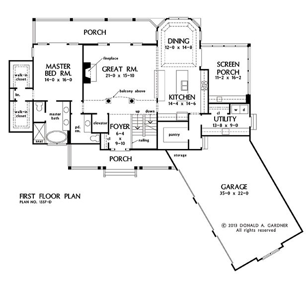 House plans with rear view house plan 2017 for Home plans with a view to the rear