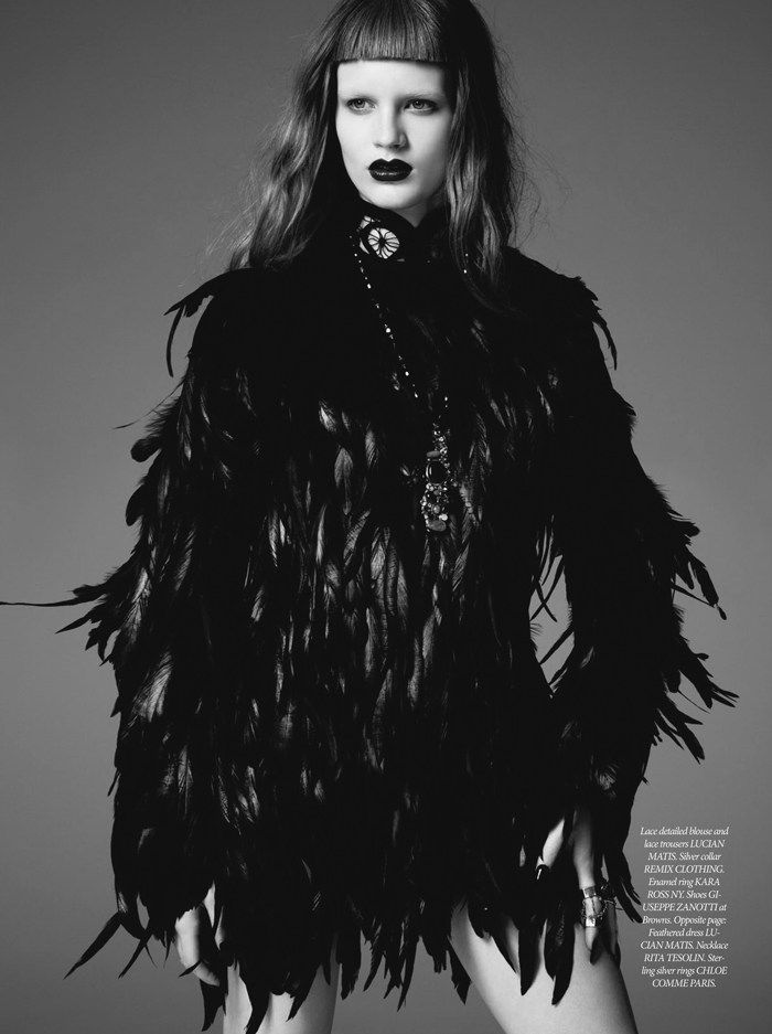 gothic x feathers  'Black Celebration' by Lily & Lilac for Dress to Kill Fall 2012