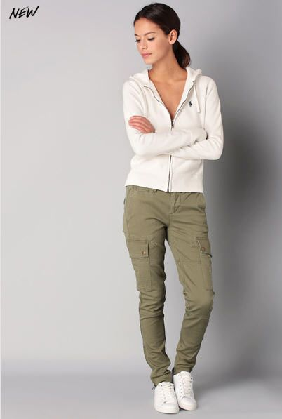 Pantalon cargo kaki Atlanta Polo Ralph Lauren prix Pantalon Femme Monshowroom 165,00 €