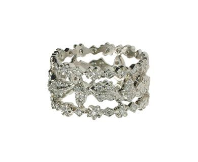 This is the Perfect Murder ring.  Cathy Waterman created the famous platinum wedding band that made the Gwenyth Paltrow movie and you can order your own.  Love it!
