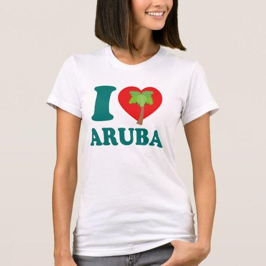 I LOVE Aruba T-Shirt #caribbean #shirts #Zazzle #aruba #Zazzle #palmtrees