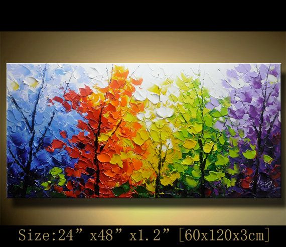 Original Abstract Painting, Modern Textured Painting,Impasto Landscape Textured Modern Palette Knife Painting,Painting on Canvas byChen g093