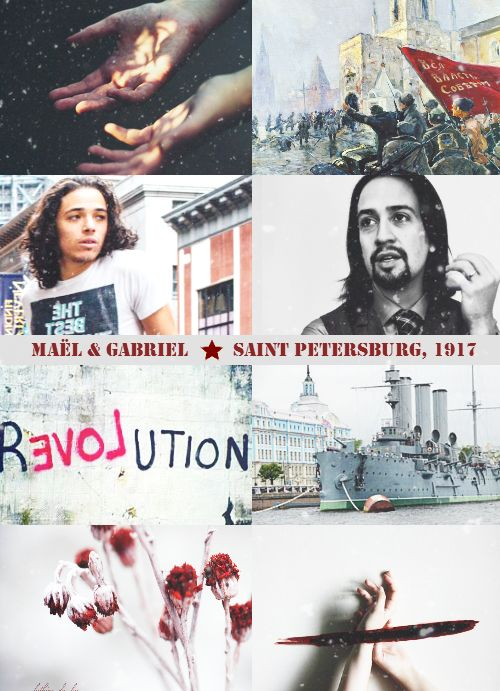 Maël Rousseau & Gabriel Silva aesthetic, october revolution reincarnation.