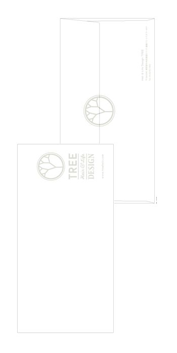 Tree_Envelope   Beauty salon graphic design ideas   Follow us on https://www.facebook.com/TracksGroup    美容室  チラシ フライヤー 広告 封筒 デザイン