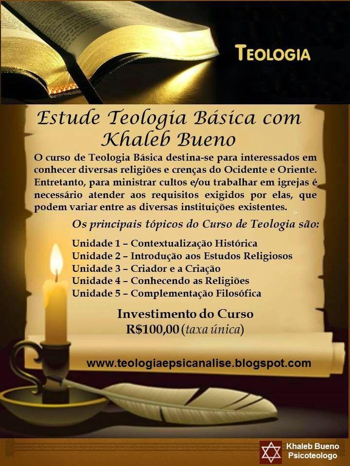 TEOLOGIA: CURSO DE TEOLOGIA BÁSICA