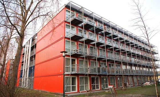 Cargotecture North Holland Amsterdam - Apartments made up of shipping containers!