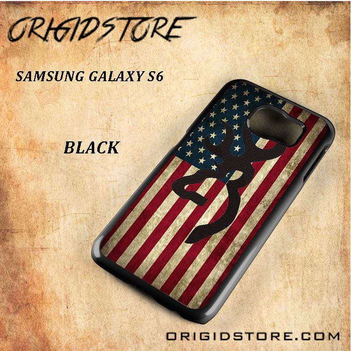 United State Flag Deer Black White Snap On 3D For Samsung Galaxy S6 Case