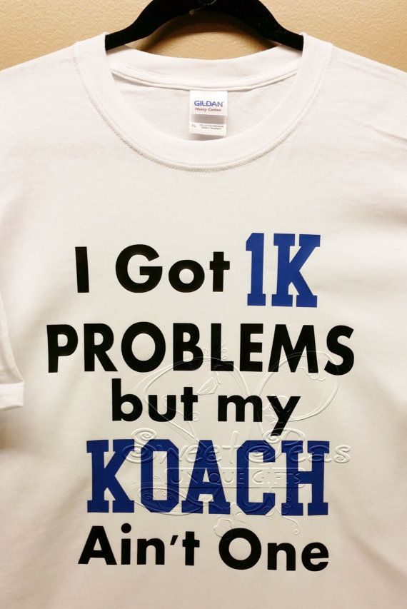 Check out this item in my Etsy shop https://www.etsy.com/listing/220077417/duke-basketball-coach-k-1k-problems-t
