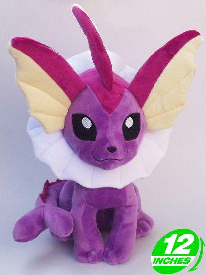 "Free Shipping Japanese Anime Pokemon Plush Toys 12"" Kawaii Vaporeon Dolls Stuffed Toys Christmas & Birthday Gifts"