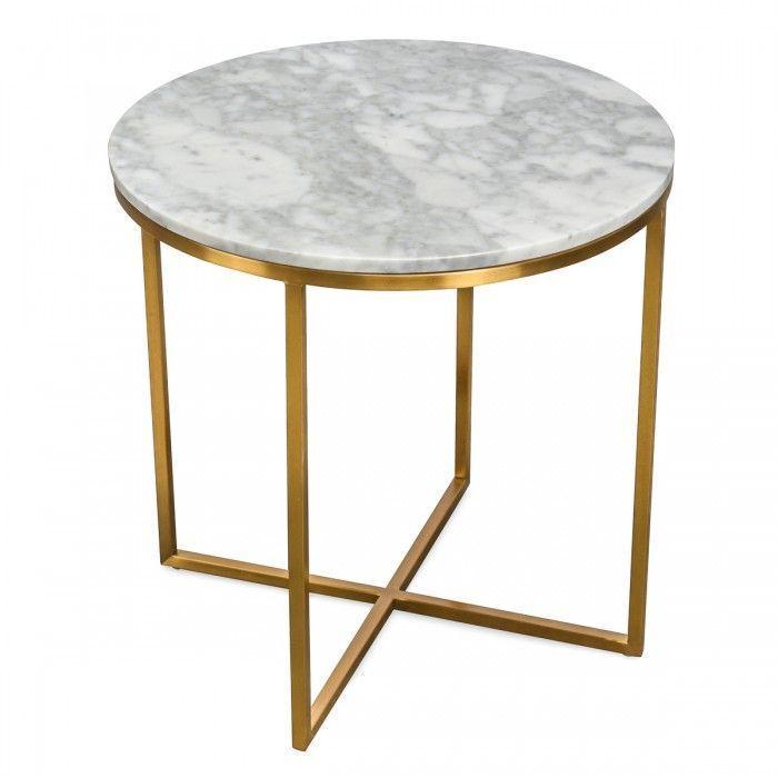 Furniture Lorenz Round Marble Side Table Furniture Lorenz