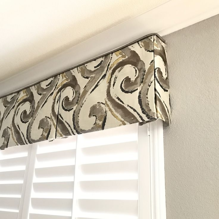 Contemporary Box Pleat valance detail