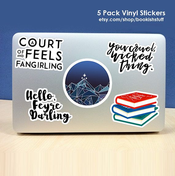Get A Pack Of 5 A Court Of Thorns And Roses Inspired Stickers The