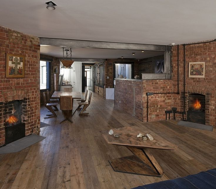 Best Exposed Brick Images On Pinterest Architecture Exposed - Contemporary soho loft with exposed brick and wood beams