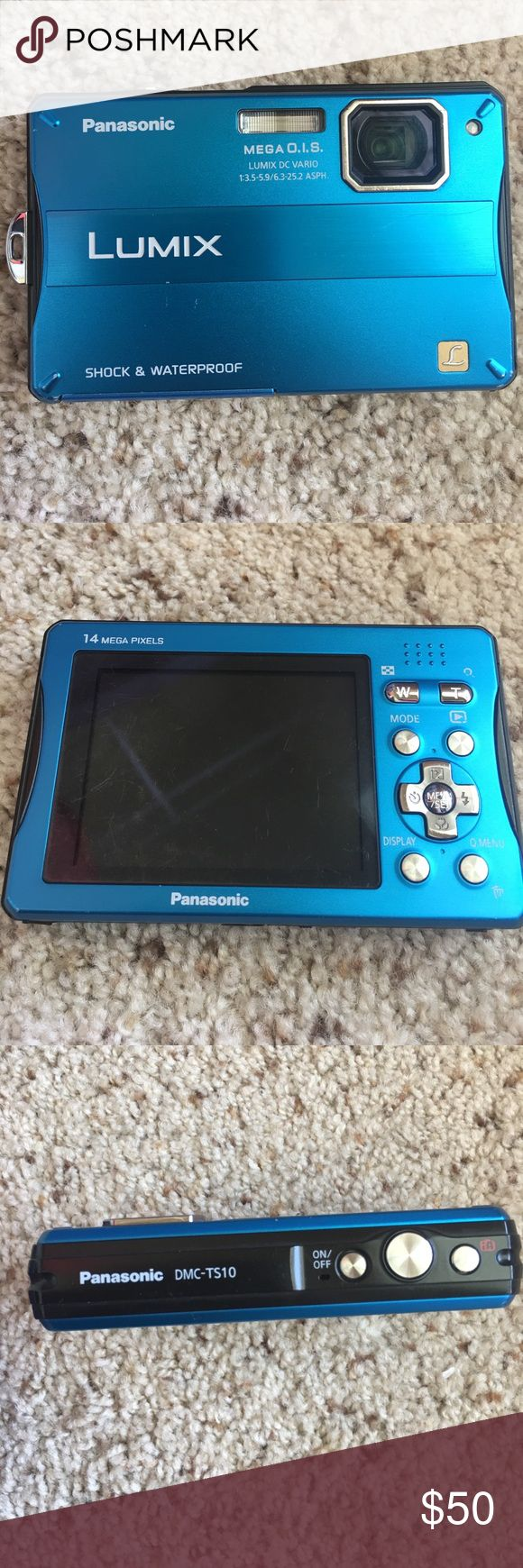 Panasonic waterproof & shockproof camera Panasonic  DMC-TS10 camera. Waterproof and shock proof! Camera case and battery charger included! Shoots videos and take pictures! A great camera to have! Panasonic Other