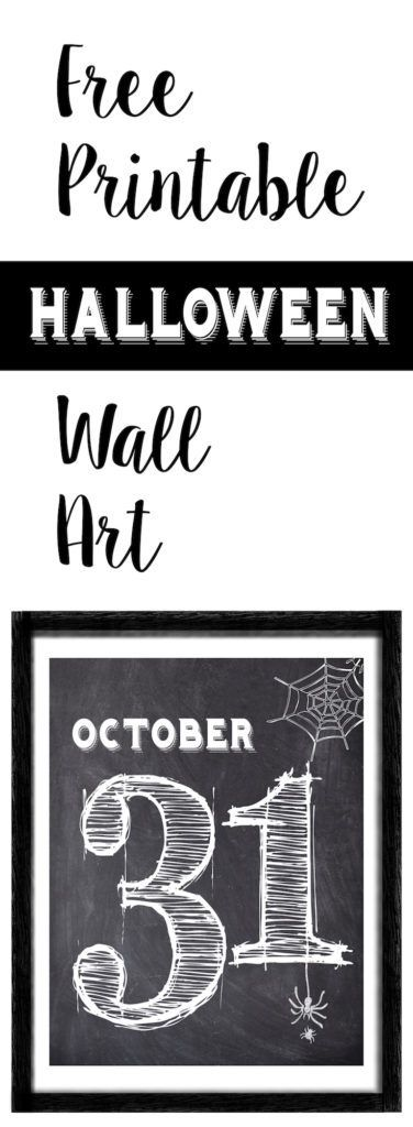 halloween october 31 wall art free printable