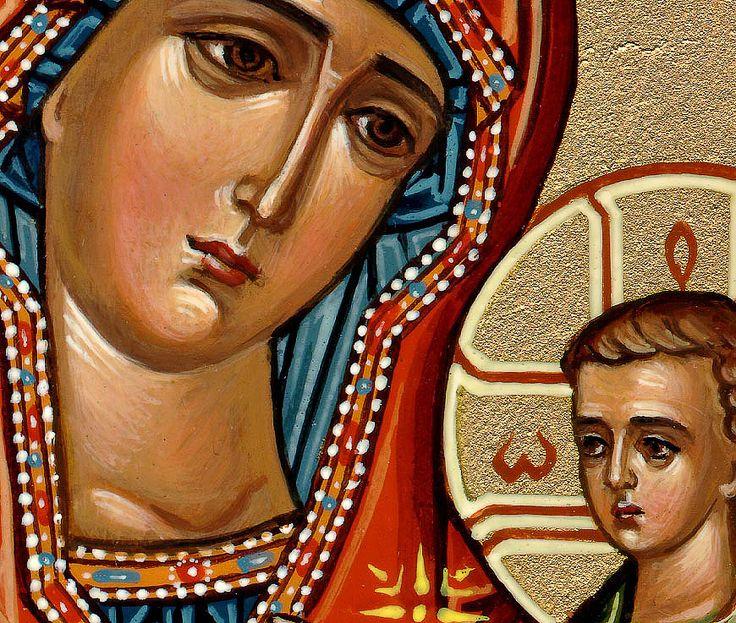 Hand Painted Russian Orthodox Icons: Jesus Christ, the Theotokos ...