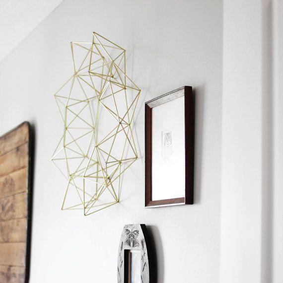 Himmeli Wreath Modern Wall Sculpture Geometric Art by HRUSKAA