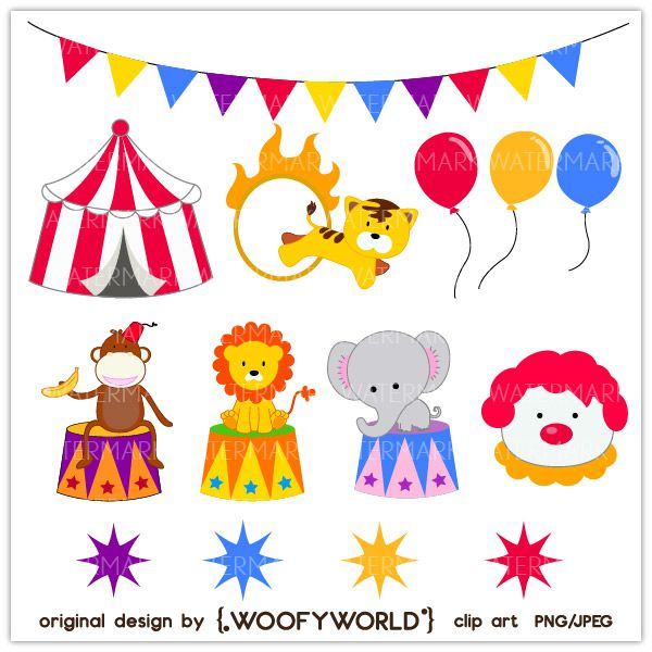 Circus Elephant Clip Art